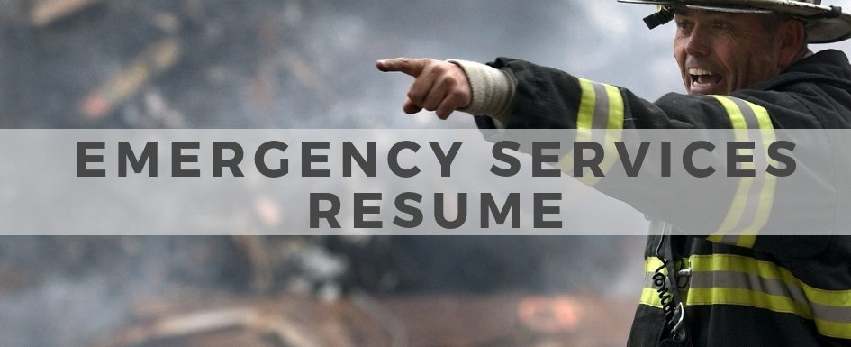 Emergency Services Resume